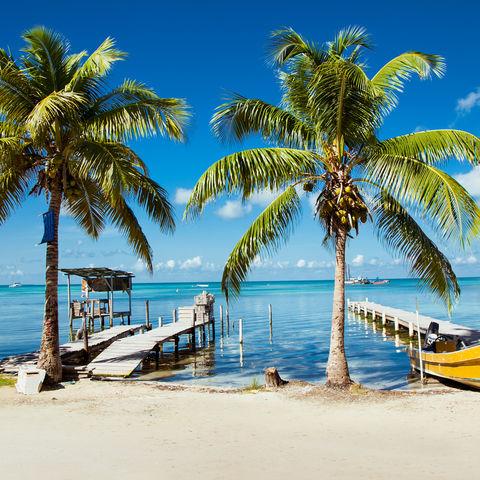 Küste von Caye Caulker, Belize