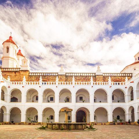 Macht der weißen Stadt Sucre alle Ehre: San Felipe Neri Kloster, Bolivien