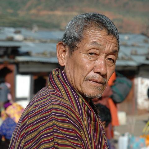 Älterer Mann, Bhutan