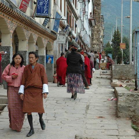 Stadt-Alltag, Bhutan