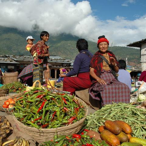 Auf dem Markt, Bhutan