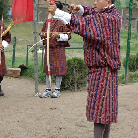 Konzentrierter Bogenschütze, Bhutan