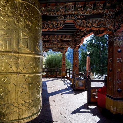 Buddhistische Gebetsmühle, Bhutan