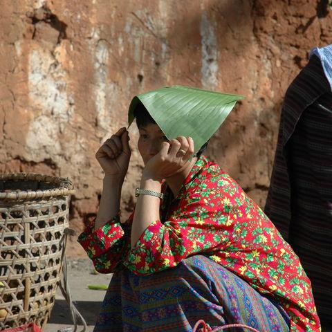 Frau auf dem Markt, Bhutan
