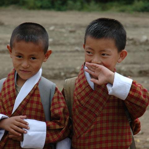 Bhutanesische Schüler, Bhutan
