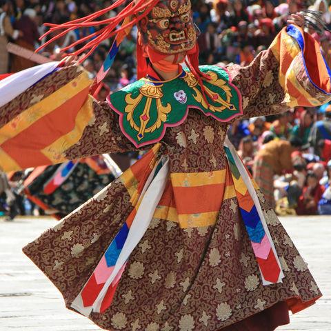 Maskentänze & Theateraufführungen, Thimphu, Bhutan