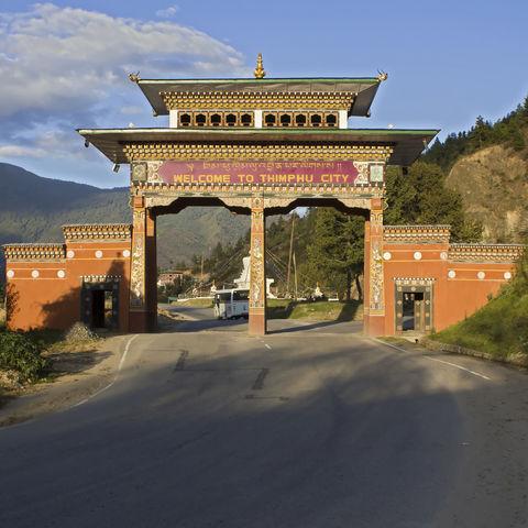 Stadttor der Hauptstadt, Bhutan