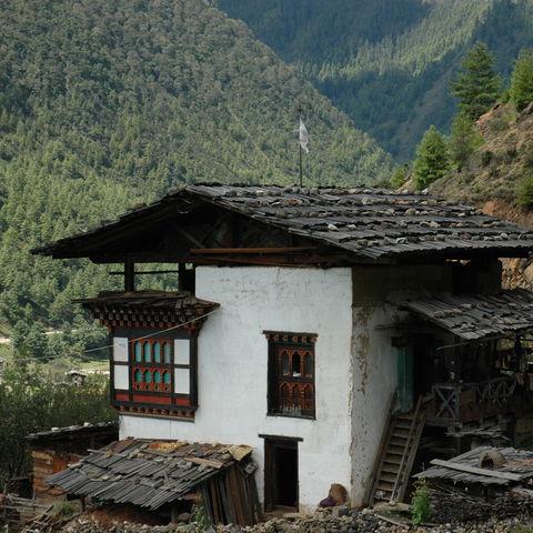 Typisch bhutanische Bauweise, Bhutan