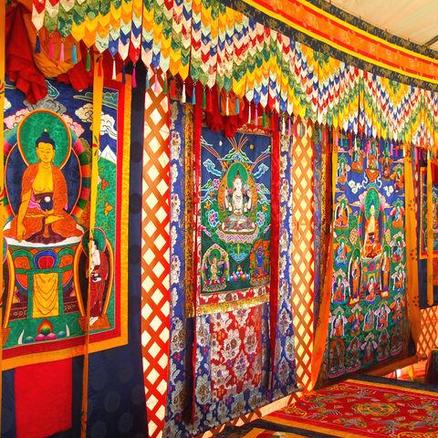 Bunter Wandteppich, Bhutan