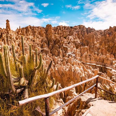 Ein Meer aus Felspfeilern: Mondtal, La Paz, Bolivien