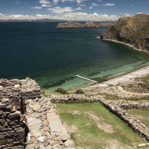 Inka-Ruinen auf der mythischen Isla del Sol, Bolivien