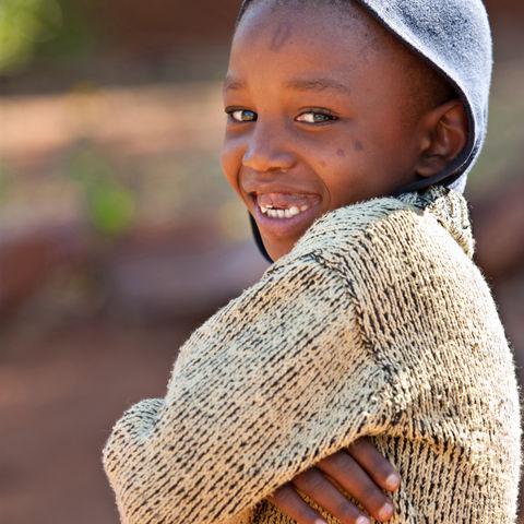 Ein Kinderlachen, welches direkt ins Herz geht, Botswana