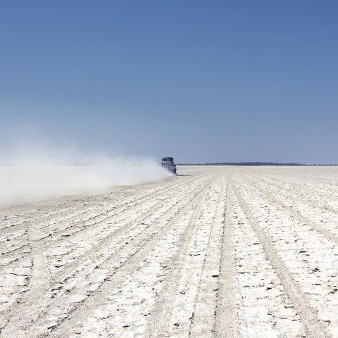 Salz der Makgadikgadi Pfanne, Botswana