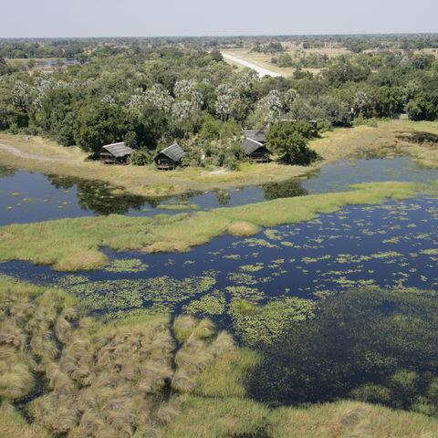 Blick auf das Okavango Delta, Botswana