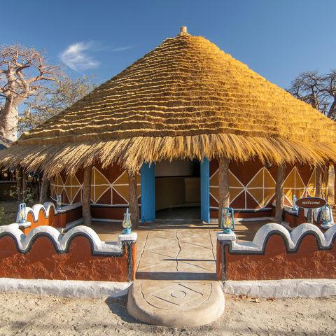 Unterkunft mitten auf den Makgadikgadi Salzpfannen: Planet Baobab, Botswana