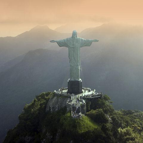 Die Statue von Christus dem Erlöser in Rio de Janeiro, Brasilien