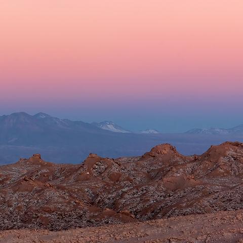 Blick auf die Atacama-Wüste in den Anden, Chile