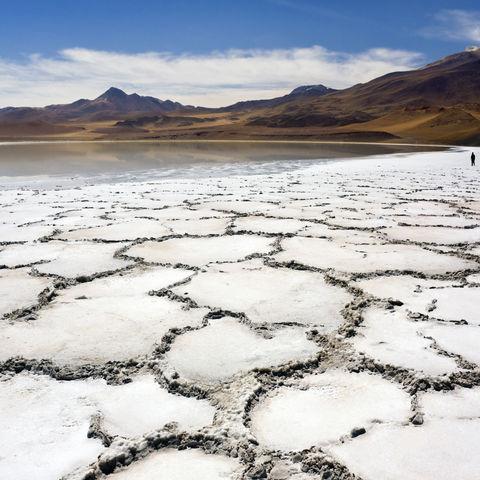 Tuyajto-Lagune und Salzkrusten, Chile