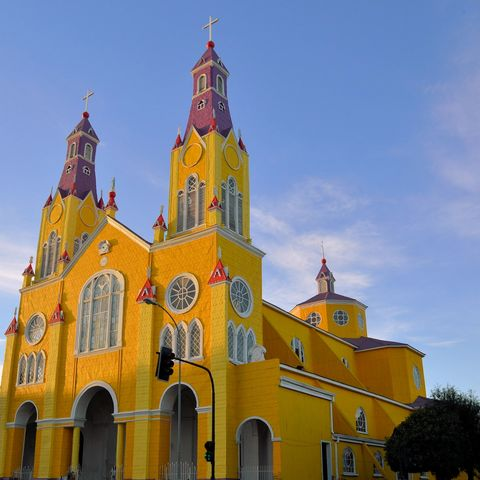 Die San Francisco Kirche in Castro auf Chiloé, Chile