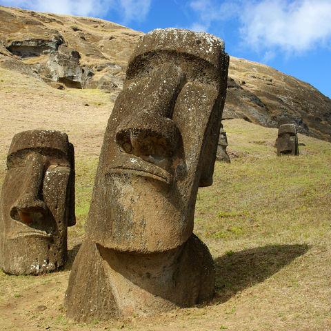 Maoi auf der Osterinsel, Chile