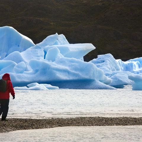 Eismassen im Torres del Paine Nationalpark, Chile