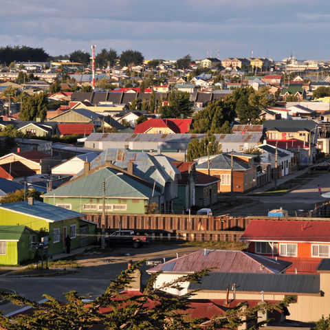 Bunte Häuser in Punta Arenas, Chile