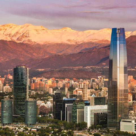 Skyline von Santiago de Chile, Chile