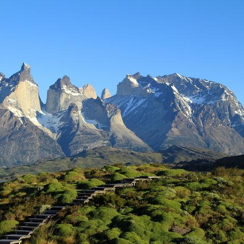 Cuernos del Paine im Torres-del-Paine-Nationalpark, Chile