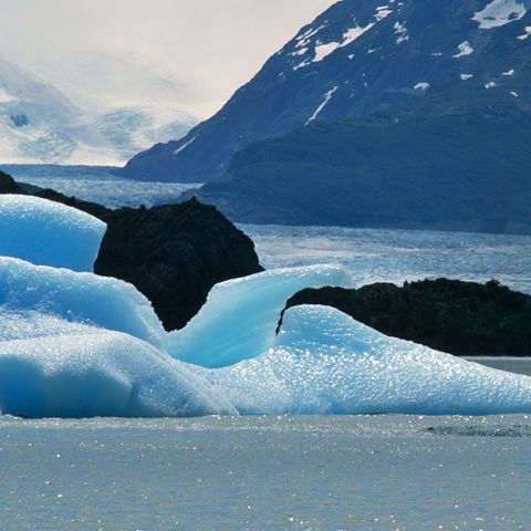Eisschollen am Grey-Gletscher, Chile