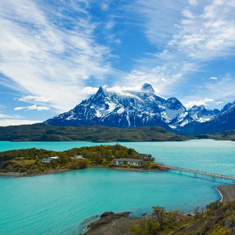 Pehoe-See im Torres del Paine Nationalpark, Chile