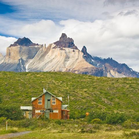 Refugio im Torres del Paine Nationalpark, Chile