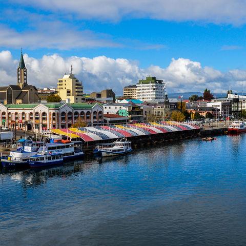 Blick über die Stadt Valdivia, Chile