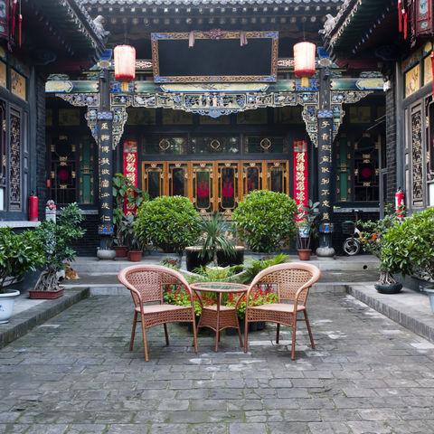 Traditionelles Gebäude von innen, China