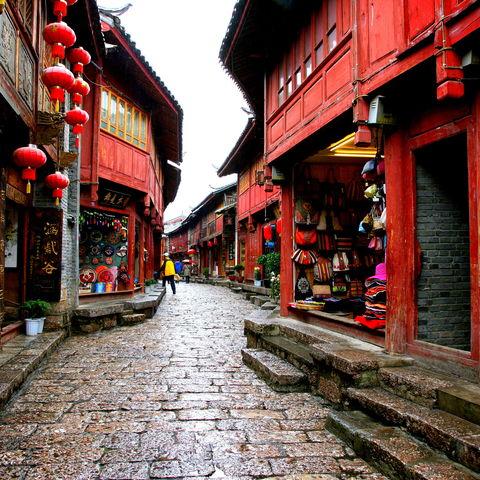 Unterwegs in den Gassen Yunnans, China