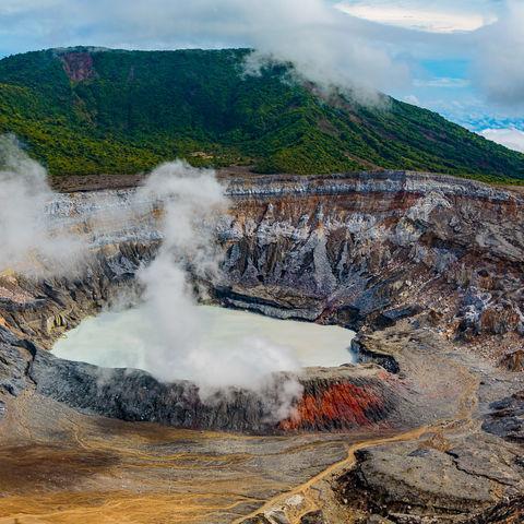 Poás Vulkan nahe Alajuela, Costa Rica