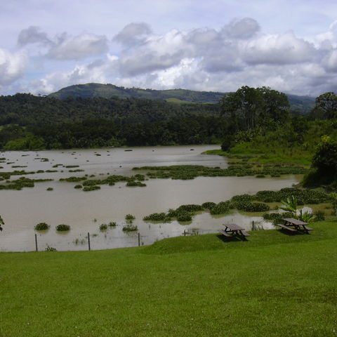 Grüne Landschaft in Turrialba, Costa Rica