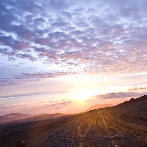 Sonnenuntergang in den Anden, Ecuador