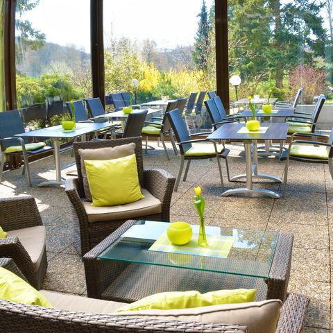 Terrasse und Wintergarten @NEUE WEGE, Ayurveda