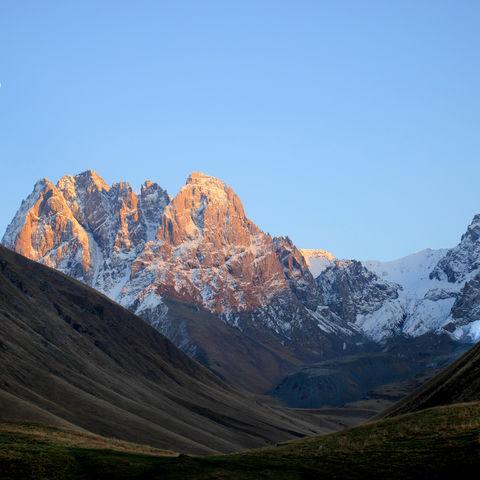 Panorama des Berges Chaukh, Georgien