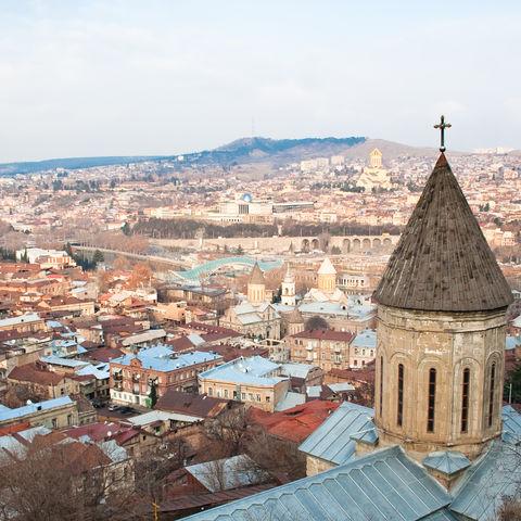 Blick über Tiflis, Georgien