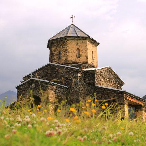 Kirche im Hochland, Shenako, Tuschetien, Georgien