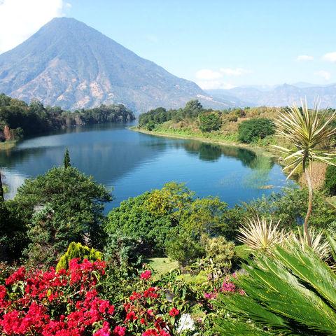 Hochland am Atitlán-See, Guatemala