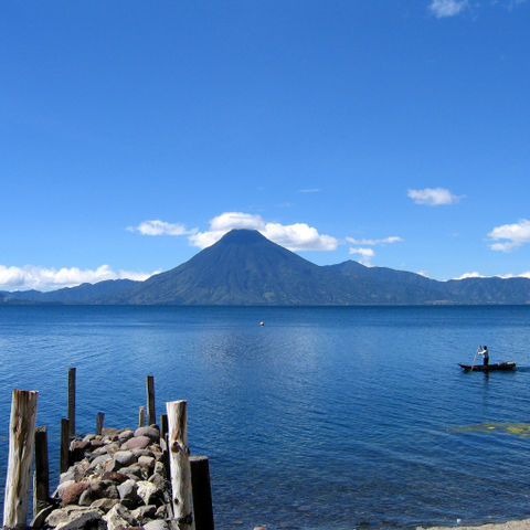 Blick auf den See Atitlán, Guatemala