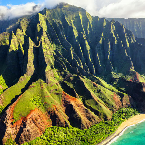 Kann ein Bergrücken verzückender sein? Na Pali Küste, Kauai, Hawaii