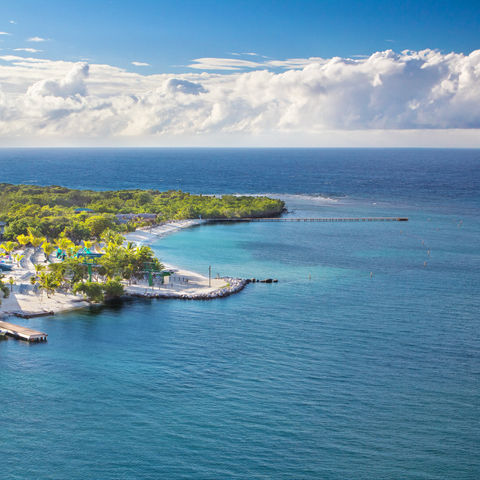 Bucht auf Roatan Island, Honduras