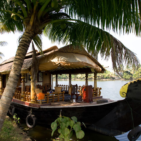 Hausboot in den Backwaters, Indien