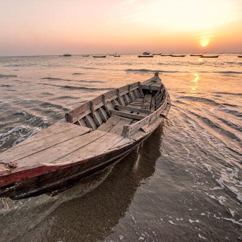 Fischerboot im Golf von Bengalen, Bangladesch