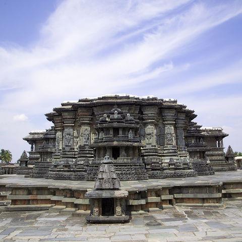 Hoysala Tempel bei Belur, Indien