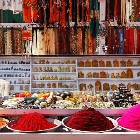 Markt in Hampi, Indien