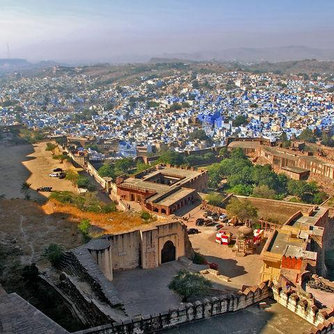 Die blaue Stadt Jodhpur, Indien